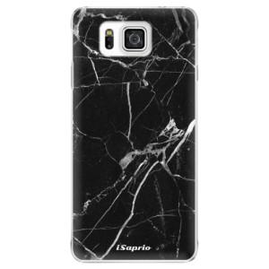 Plastové pouzdro iSaprio Black Marble 18 na mobil Samsung Galaxy Alpha