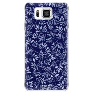 Plastové pouzdro iSaprio Blue Leaves 05 na mobil Samsung Galaxy Alpha