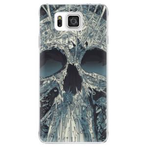 Plastové pouzdro iSaprio Abstract Skull na mobil Samsung Galaxy Alpha