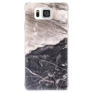 Plastové pouzdro iSaprio BW Marble na mobil Samsung Galaxy Alpha