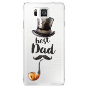 Plastové pouzdro iSaprio Best Dad na mobil Samsung Galaxy Alpha