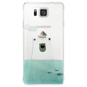 Plastové pouzdro iSaprio Bear With Boat na mobil Samsung Galaxy Alpha