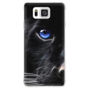 Plastové pouzdro iSaprio Black Puma na mobil Samsung Galaxy Alpha