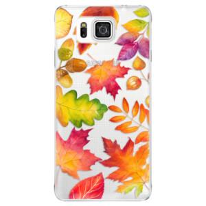 Plastové pouzdro iSaprio Autumn Leaves 01 na mobil Samsung Galaxy Alpha