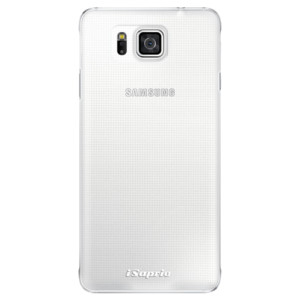 Plastové pouzdro iSaprio 4Pure mléčné bez potisku na mobil Samsung Galaxy Alpha