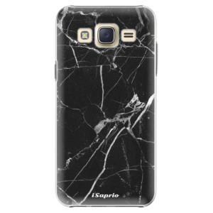 Plastové pouzdro iSaprio Black Marble 18 na mobil Samsung Galaxy Core Prime