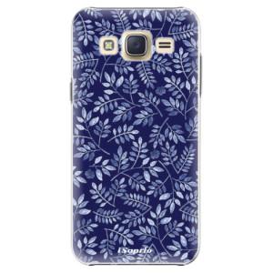 Plastové pouzdro iSaprio Blue Leaves 05 na mobil Samsung Galaxy Core Prime