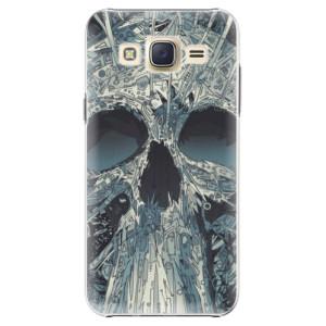 Plastové pouzdro iSaprio Abstract Skull na mobil Samsung Galaxy Core Prime
