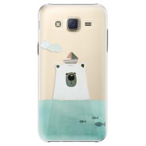 Plastové pouzdro iSaprio Bear With Boat na mobil Samsung Galaxy Core Prime