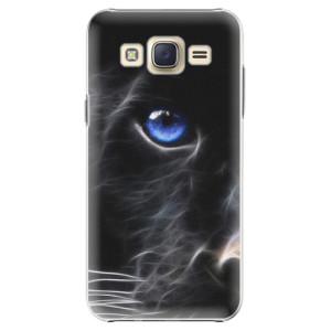 Plastové pouzdro iSaprio Black Puma na mobil Samsung Galaxy Core Prime