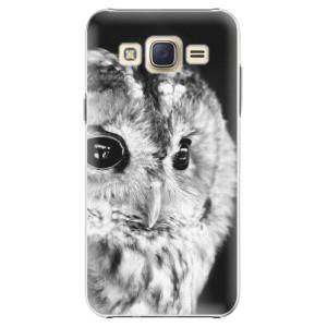 Plastové pouzdro iSaprio BW Owl na mobil Samsung Galaxy Core Prime
