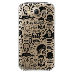 Plastové pouzdro iSaprio Comics 01 black na mobil Samsung Galaxy Grand Neo Plus
