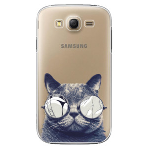 Plastové pouzdro iSaprio Crazy Cat 01 na mobil Samsung Galaxy Grand Neo Plus
