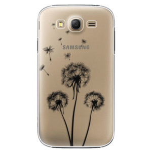 Plastové pouzdro iSaprio Three Dandelions black na mobil Samsung Galaxy Grand Neo Plus