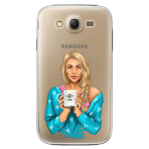 Plastové pouzdro iSaprio Coffe Now Blond na mobil Samsung Galaxy Grand Neo Plus