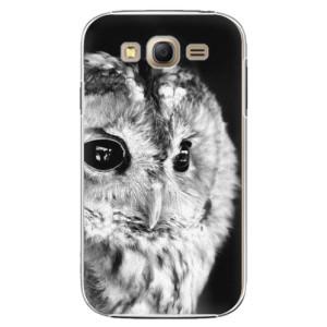 Plastové pouzdro iSaprio BW Owl na mobil Samsung Galaxy Grand Neo Plus