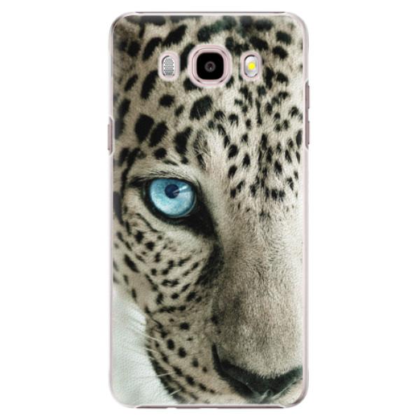 Plastové pouzdro iSaprio white Panther na mobil Samsung Galaxy J5 2016 (Plastový obal, kryt, pouzdro iSaprio white Panther na mobilní telefon Samsung Galaxy J5 2016)