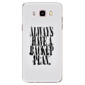 Plastové pouzdro iSaprio Backup Plan na mobil Samsung Galaxy J5 2016