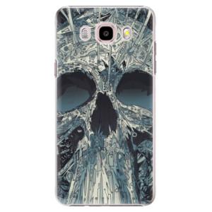 Plastové pouzdro iSaprio Abstract Skull na mobil Samsung Galaxy J5 2016