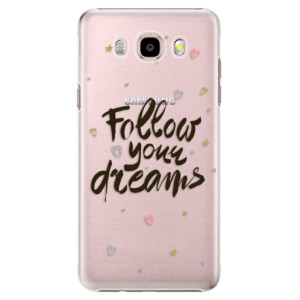 Plastové pouzdro iSaprio Follow Your Dreams black na mobil Samsung Galaxy J5 2016