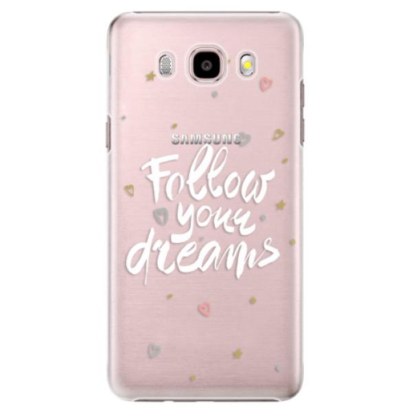 Plastové pouzdro iSaprio Follow Your Dreams white na mobil Samsung Galaxy J5 2016 (Plastový obal, kryt, pouzdro iSaprio Follow Your Dreams white na mobilní telefon Samsung Galaxy J5 2016)