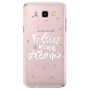Plastové pouzdro iSaprio Follow Your Dreams white na mobil Samsung Galaxy J5 2016