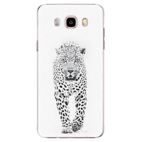 Plastové pouzdro iSaprio white Jaguar na mobil Samsung Galaxy J5 2016 (Plastový obal, kryt, pouzdro iSaprio white Jaguar na mobilní telefon Samsung Galaxy J5 2016)