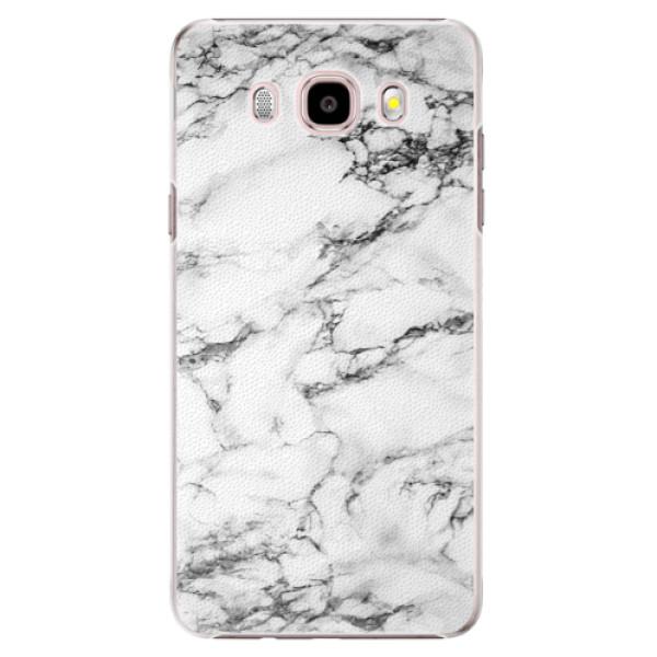Plastové pouzdro iSaprio white Marble 01 na mobil Samsung Galaxy J5 2016 (Plastový obal, kryt, pouzdro iSaprio white Marble 01 na mobilní telefon Samsung Galaxy J5 2016)