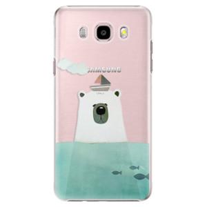 Plastové pouzdro iSaprio Bear With Boat na mobil Samsung Galaxy J5 2016