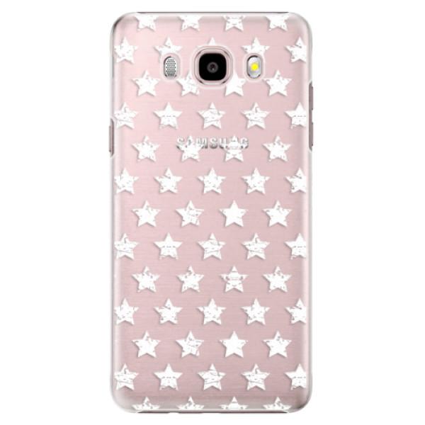 Plastové pouzdro iSaprio Stars Pattern white na mobil Samsung Galaxy J5 2016 (Plastový obal, kryt, pouzdro iSaprio Stars Pattern white na mobilní telefon Samsung Galaxy J5 2016)