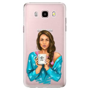 Plastové pouzdro iSaprio Coffe Now Brunette na mobil Samsung Galaxy J5 2016