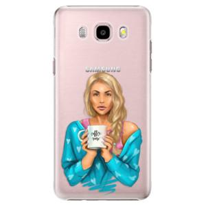 Plastové pouzdro iSaprio Coffe Now Blond na mobil Samsung Galaxy J5 2016