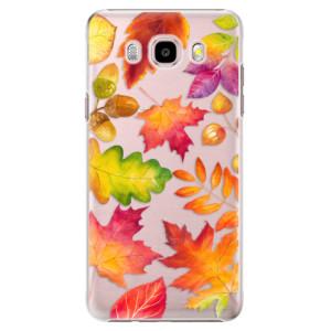Plastové pouzdro iSaprio Autumn Leaves 01 na mobil Samsung Galaxy J5 2016