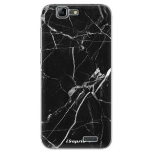 Plastové pouzdro iSaprio Black Marble 18 na mobil Huawei G7
