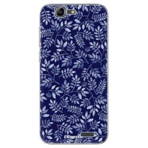 Plastové pouzdro iSaprio Blue Leaves 05 na mobil Huawei G7