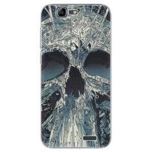 Plastové pouzdro iSaprio Abstract Skull na mobil Huawei G7