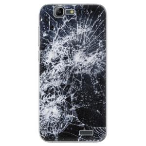 Plastové pouzdro iSaprio Cracked na mobil Huawei G7