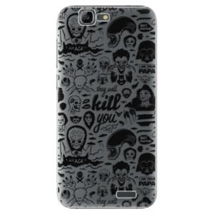 Plastové pouzdro iSaprio Comics 01 black na mobil Huawei G7