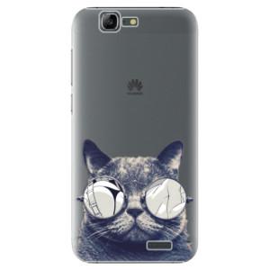 Plastové pouzdro iSaprio Crazy Cat 01 na mobil Huawei G7