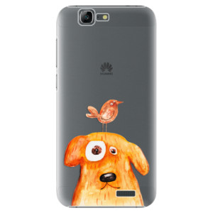 Plastové pouzdro iSaprio Dog And Bird na mobil Huawei G7