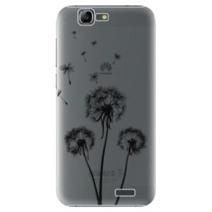 Plastové pouzdro iSaprio Three Dandelions black na mobil Huawei G7