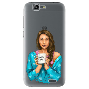 Plastové pouzdro iSaprio Coffe Now Brunette na mobil Huawei G7