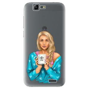 Plastové pouzdro iSaprio Coffe Now Blond na mobil Huawei G7
