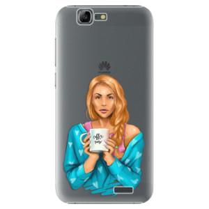 Plastové pouzdro iSaprio Coffe Now Redhead na mobil Huawei G7