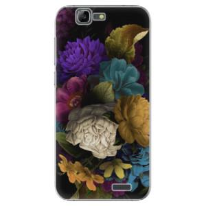 Plastové pouzdro iSaprio Dark Flowers na mobil Huawei G7