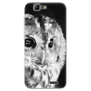 Plastové pouzdro iSaprio BW Owl na mobil Huawei G7