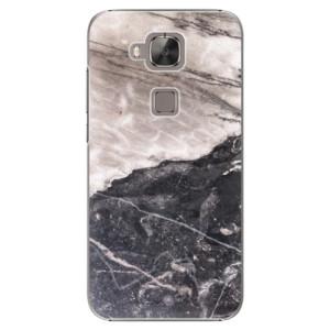 Plastové pouzdro iSaprio BW Marble na mobil Huawei G8