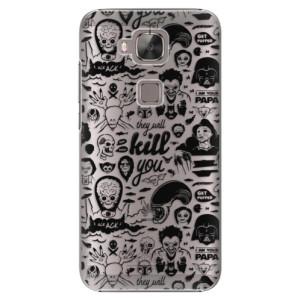 Plastové pouzdro iSaprio Comics 01 black na mobil Huawei G8
