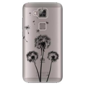 Plastové pouzdro iSaprio Three Dandelions black na mobil Huawei G8