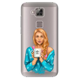 Plastové pouzdro iSaprio Coffe Now Redhead na mobil Huawei G8